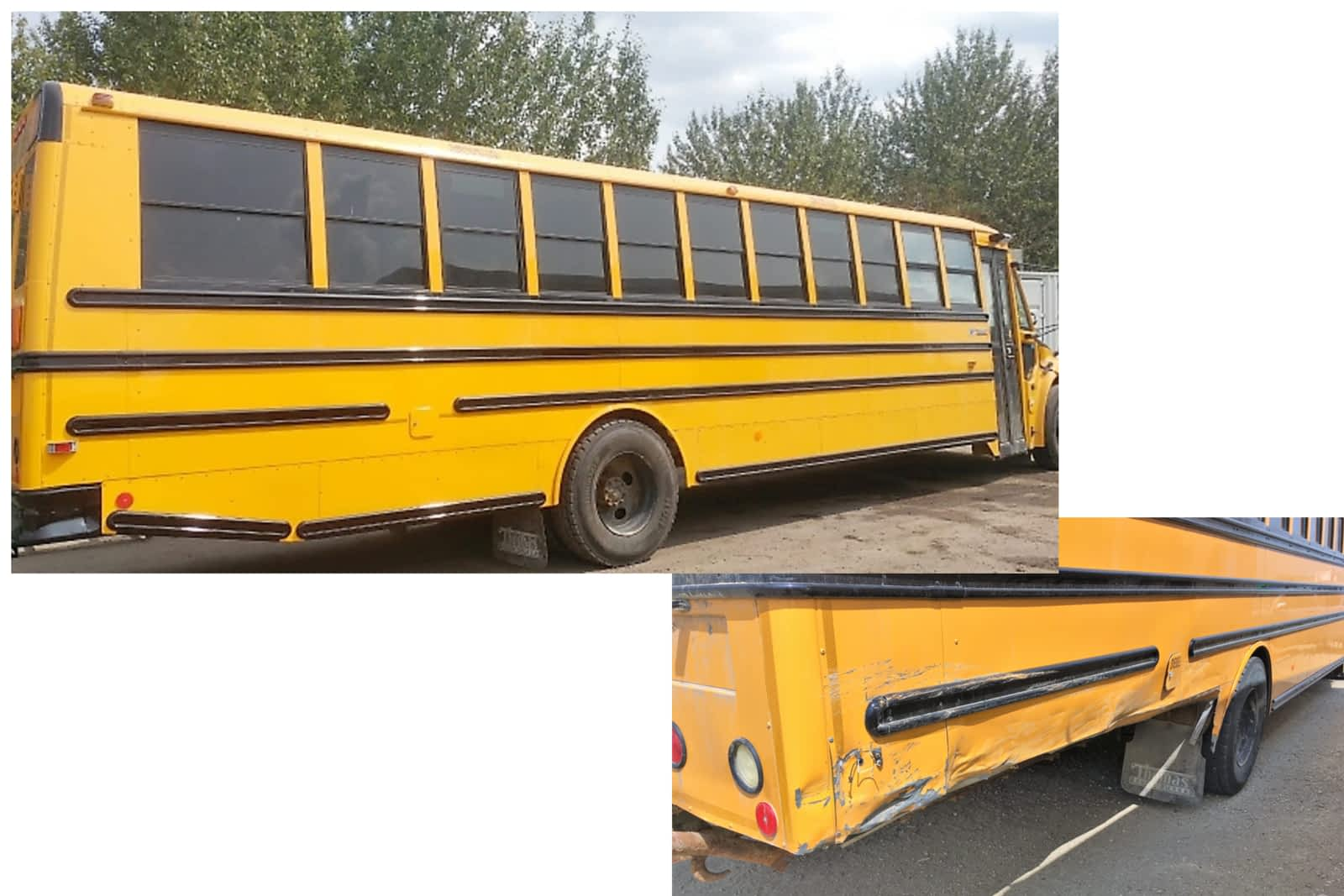 bus before and after