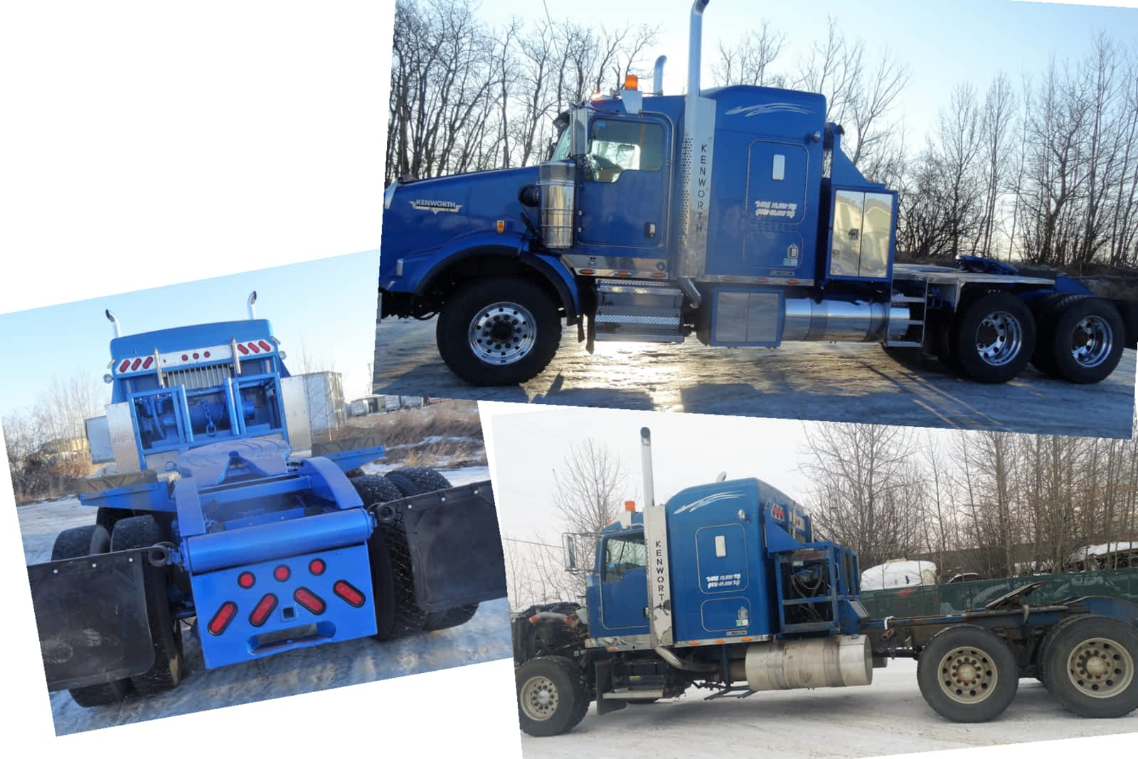 Blue truck before and after